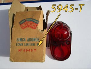Find a Simca part on ebay for example